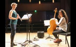 J2J combines the talents of flutist Julie Johnson (L) and cellist Jacqueline Ultan (R). The duo will be performing in Long Prairie on Sept. 24.