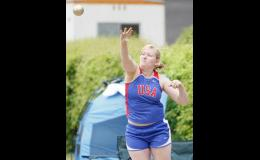 USA senior Alex Kludt competed in the throwing events, placing third in the discus, and 11th in the shot put.