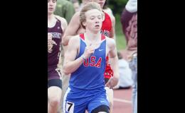 John Muhlenkamp led the USA distance runners, placing second in the 3200 and fifth in the 1600