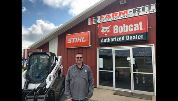 Dean Schreiner from Farm-Rite Equipment in Long Prairie. Farm-Rite Equipment offers a full line of Bobcats, attachments, trailers, Stihl and Simplicity equipment. Farm-Rite also offers a new rental service at the Long Prairie location.