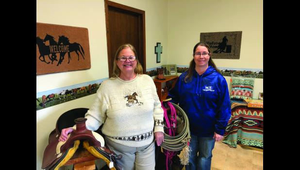 Jenny Thelen and Renee Kreemer just opened Happy Trails Embroidery and Design in Long Prairie at the former Upsa Daisy Floral location.