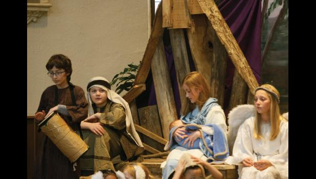 St. Mary of Mt. Carmel School hosted its annual live nativity and Christmas Program last week.