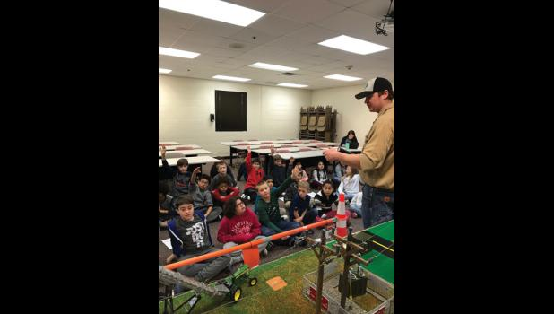 Students from the Swanville Elementary, Long Prairie-Grey Eagle Elementary and St. Mary of Mt. Carmel School recently learned about energy efficiency and electrical safety from Stearns Electric Association.