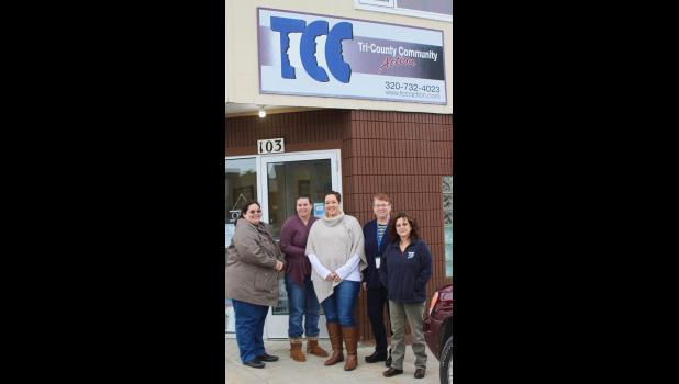 The Tri-County Community Action staff at their office in Long Prairie.
