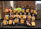 The October Long Prairie-Grey Eagle students of the month.
