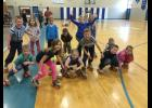 Front: Cullen Lundeen, Emily Johnson, Libby Wimmer, Delaney Chuba, Isaac Miller, Braydon Loven, and Ronelle Hasse.In back, Isaac Gapinski, Chloe Geschwill, Elli Johnson, Connor Gerads, Beau Thieschafer, Clara Hagen, and Abby Wimmer all enjoy some time on their rollerskates.