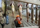 The Swanville Lions Club and Sobieski Lions Club recently hosted their annual fishing derby on Long Lake.